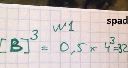Константа скорости реакции 2A+3B=2C равна 5, а начальная концентрация (в моль/литр) B равна 4. Какого численное значение скорости реакции?