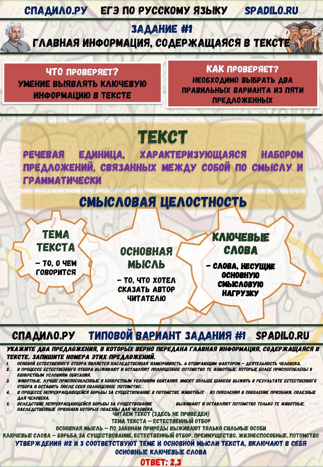 вариант по русскому языку номер 2