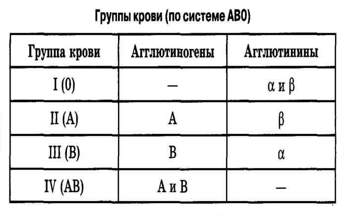 Картинки по запросу группы крови таблица