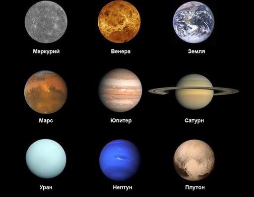 Какие есть планеты солнечной системы?