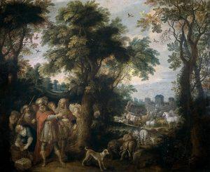 Франкен Франс II. Животные вступают в Ноев ковчег.