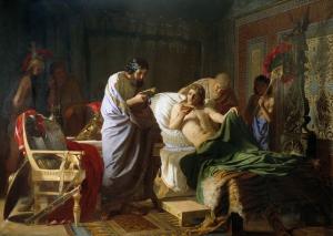 Генрих Ипполитович Семирадский. Доверие Александра Македонского к врачу Филиппу.