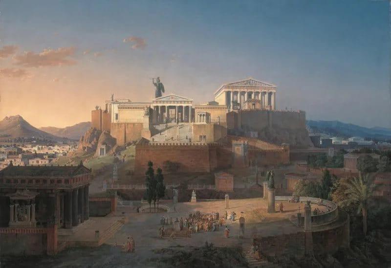Афинский Акрополь. Реконструкция Лео фон Кленце.