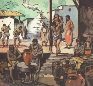 Греческая мастерская. Ремесленники.