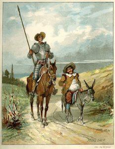 «Дон Кихот» Сервантес, иллюстрация