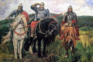 Картина В. Васнецова «Богатыри»